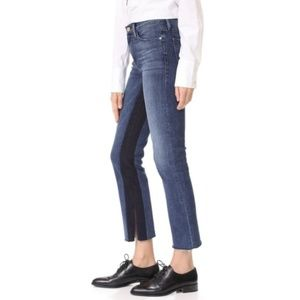 FRAME Elaine Le High waist Straight Raw Hem Jeans